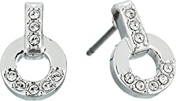 Swarovski - Circle Pierced Stud Earrings