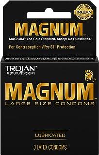 Magnum Large Size Premium Lubricated Condoms - 3 Count