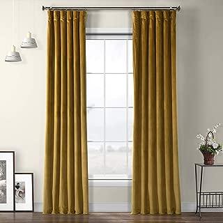 VPYC-179911-96 Heritage Plush Velvet Curtain, 50 x 96, Peat Green