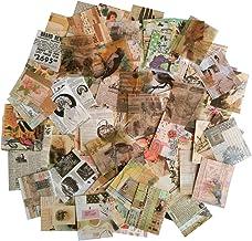 (C) - Vintage Scrapbooking DIY Material Paper Pack Animal Floral News Paper Letter Decorative Antique Retro Natural Collec...