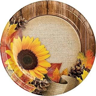 Sunflower Burlap Wood Grain Fall Leaves Autumn Crafts Cake Plates Harvest Thanksgiving Weddings