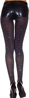 MUSIC LEGS Women's Faux Rhinestones Spandex Opaque Pantyhose