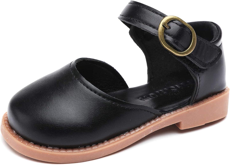 Minibella Girl's Mary Jane Ballet Flats Ankle Strap Ballerina Dress Shoes Flat Sandals