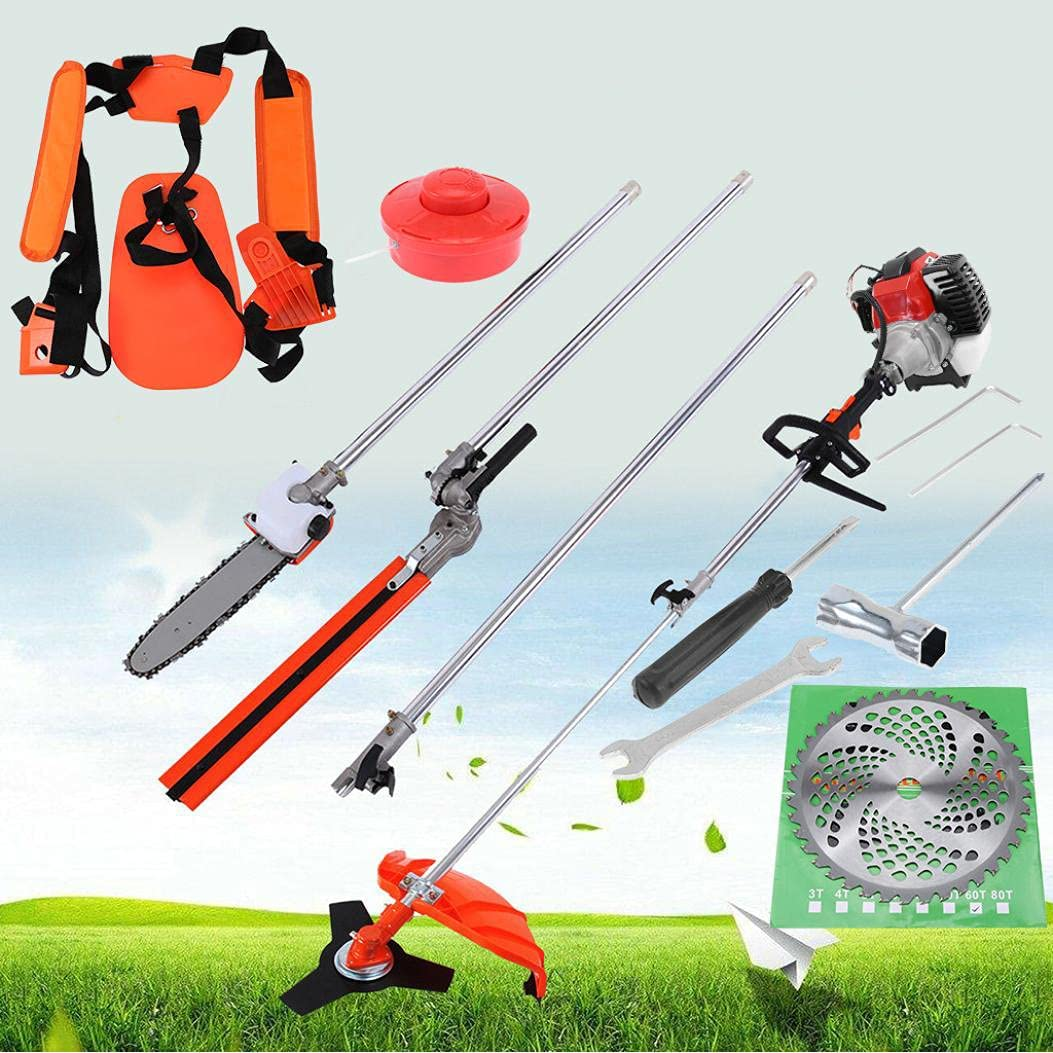 5 in 1 52cc Petrol Hedge Chainsaw Cutter Pole Saw New product Brush Max 86% OFF T-Rimmer
