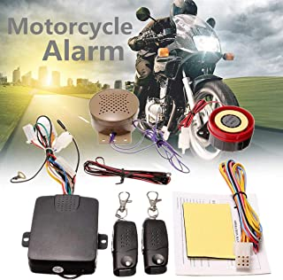 Carvicto - 200M 2 Remote Controllers Motorcycle Alarm System Lock Talkin Voice Moto Bike Scooter Anti-theft Security Alarm Horn Speaker