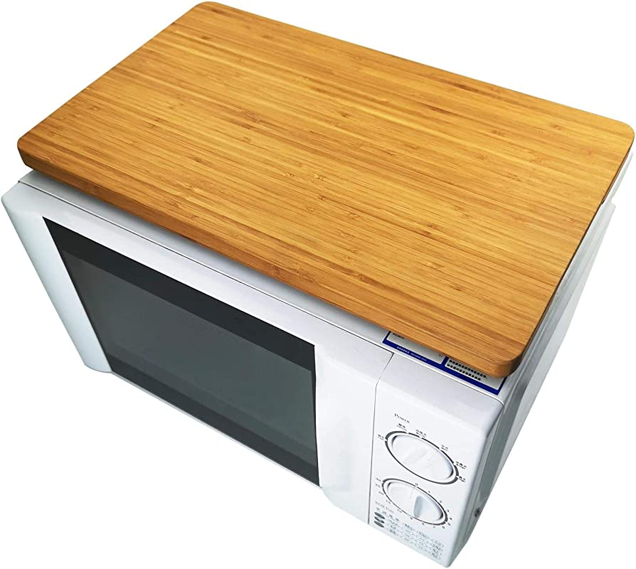 Convection Oven Top Bamboo Cutting Board With Anti Slip Feet Butcher Block Serving Tray For Smart Toaster Oven HIBOV800845 17 7 X 10 8 X 0 75