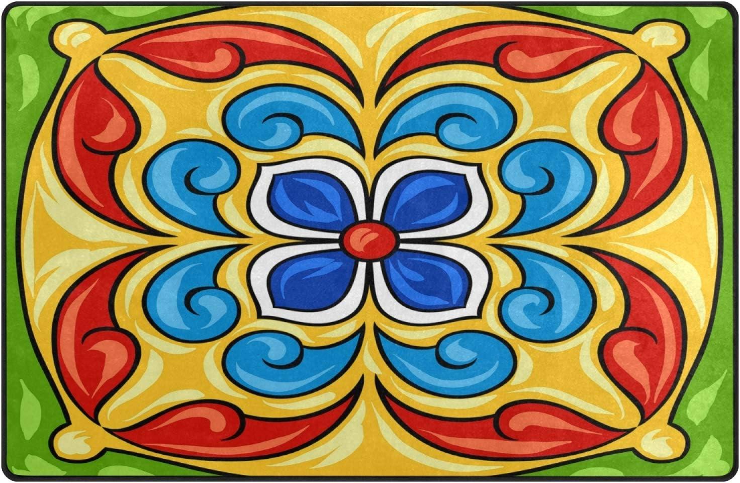 Oyihfvs オンラインショップ Mexican Ceramic Tile 100%品質保証 Ethnic R Folk Ornament 63