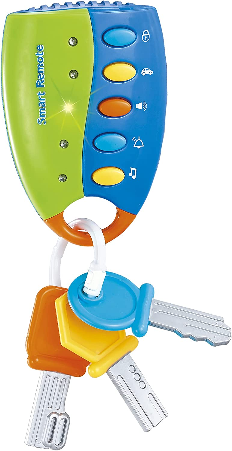 STJOYOPY Musical Smart Remote Car Key Toy with Sound and Light for Baby, Kids and Toddlers (Not Included Batteries) (Blue)