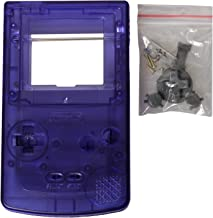 eJiasu Full Replace Parts Housing Shell Pack for Nintendo GBC Gameboy Color (Transparent Blue Case 10PCS)