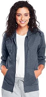 Hanes womens Hanes Women's Jersey Full Zip Hoodie Shirt