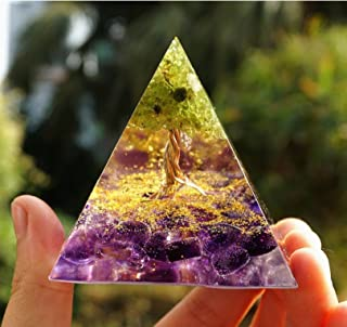 Garden Space Hand Made Pyramid for Home Positive Energy Generator Best Used for Meditation Good Gifting Item (Tree of Life)