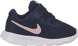 Nike Girl's Tanjun (TD) Toddler Shoe Obsidian/Bleached Coral/White Size 6 M US
