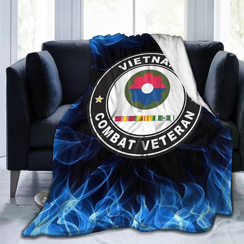 9th Infantry Division Vietnam Time sale Memphis Mall Combat Veteran Flannel Blanket Pri