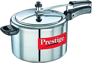 Prestige Nakshatra 11607 Aluminum Pressure Cooker, 10-Liter (8901365116073 Silver)