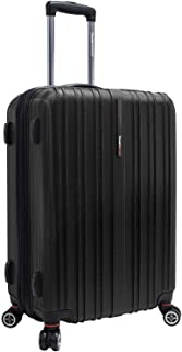 Travelers Choice Tasmania 25 Inch Expandable Spinner Luggage, Black
