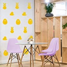 Set of 15 Easter Day Vinyl Wall Art Decals - Bunnies and Chicks - from 4