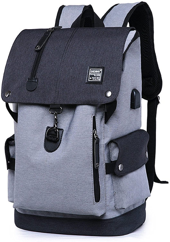 Fashion Leisure Backpack Outdoor Travel Shoulder Bag Student Bag,C