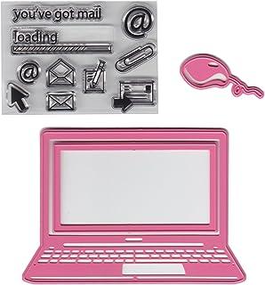 Marianne Design COL1372 Ordinateur Portable à Collectionner, Métal, Rose, 10,2 x 6,9 x 0,4 cm