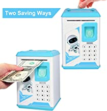 Lefree Mini ATM Electronic Coin Bank,Smart Electronic Piggy Bank, Safe with Password Mini..