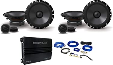 "$292 » (2) Pairs Alpine S-S65C 240 Watt 6.5"" Car Component Speakers+4-Channel Amplifier"