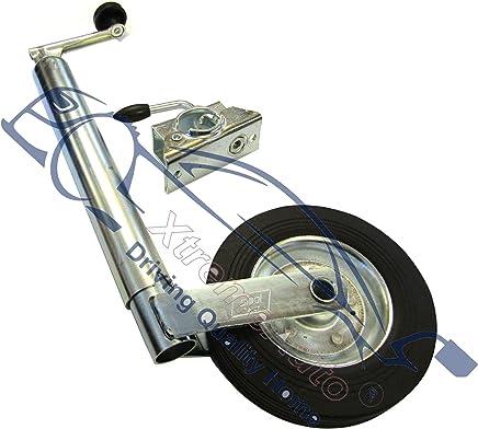 XtremeAuto® Trailer / Caravan Wind Up Jockey Wheel Stand 48mm + Heavy Duty Clamp