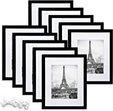 upsimples 8×10 Picture Frame Set of 10,Display Pictures 5×7 with Mat or..