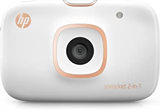 HP Sprocket 2-in-1 Portable Photo Printer & Instant Camera, print social media photos on 2x3