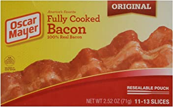 Oscar Mayer, Fully Cooked Bacon, 2.52oz Box (Pack of 4)