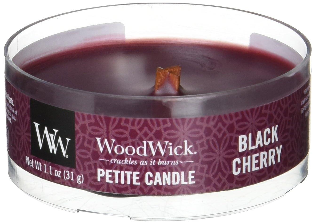 アスリート驚器用Wood Wick ウッドウィック プチキャンドル ブラックチェリー