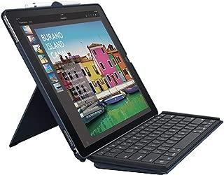 Logitech iPad Pro 12.9 inch Keyboard Case | SLIM COMBO with Detachable, Backlit, Wireless Keyboard and Smart Connector (Blue) (Renewed)