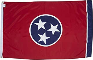 Allied Flag - 2' x 3' Outdoor Nylon Tennessee State Flag - Made in USA - Vivid Color and Fade Resistant - Reinforced Hem and Brass Grommets