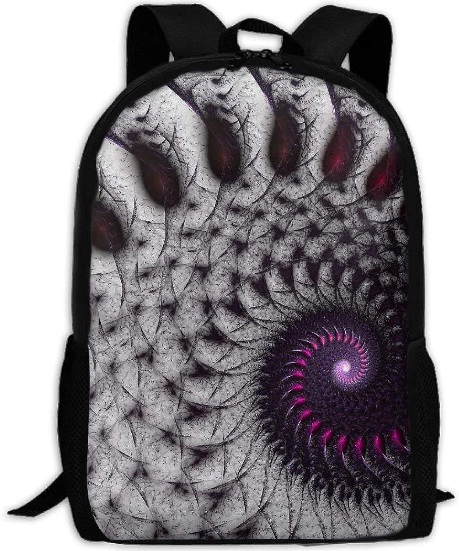 Backpack Adult Mysterious Texture Spiral Shoulders Bag Daypacks