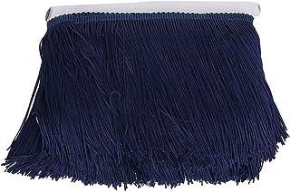 Cinta de pompones con flecos de encaje para costura accesorios de costura para bufandas azul marino tela de 9,1 m Milisten azul marino sombreros