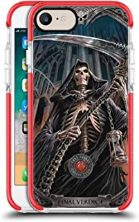 Official Anne Stokes Final Verdict Tribal Red Shockproof Gel Bumper Case for iPhone 7 / iPhone 8