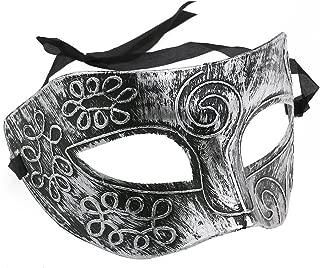 BinaryABC Halloween Masquerade Masks,Halloween Face Mask,Halloween Venetian Masks,Halloween Costumes Props(Silver)