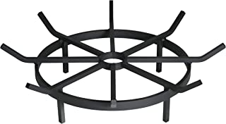 SteelFreak Wagon Wheel Firewood Grate for Fire Pit - Made in the USA (20 Inch)