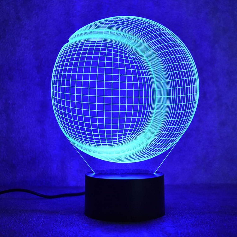Laofan 3D USB Visuelle Led Bunte Nachtlichter Baseball Softball Lampe Kinder Schlafzimmer Nachttischlampe Schlaf Beleuchtung Geschenke,Remote und berühren