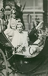 Vintage photo of Crown Prince Frederik of Denmark and Princess Ingrid of Sweden in the short-term after the wedding