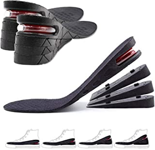 NAOR Unisex Adjustable Height Increase Invisible Insole Soft Breathable Shock Absorption Shoes Insole Heel Lift Inserts (B...