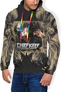 Mens Hoodie Sweatshirt Man's Loose Thicken Plus Velvet Hooded Pullover with Pocket