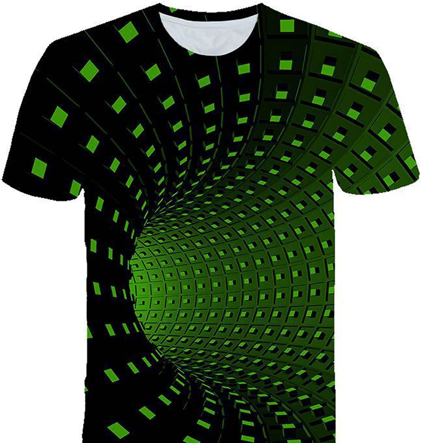 GOLOFEA Mens Printed Pattern Quick Max 71% OFF Free shipping New Dry Geometric T-Shirt Spiral