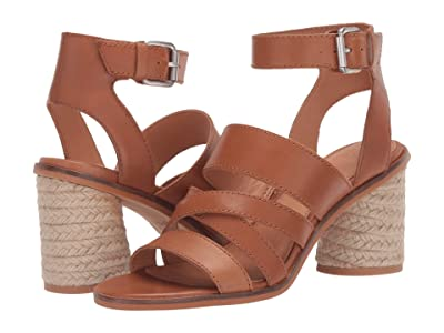 FRYE AND CO. Leiah Mixed Strap Sandal (Cognac Waxed Leather) Women