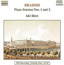 Brahms: Piano Sonatas No. 1, Op. 1 And No. 2, Op. 2