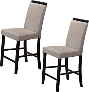 Kings Brand Furniture Counter Parsons Dining Chairs (Set of 2), Gray, 24