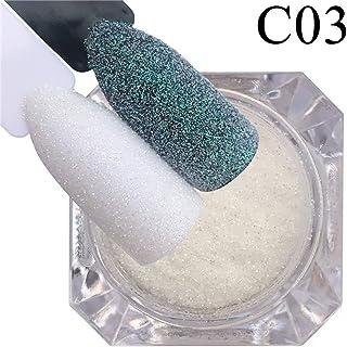 MARSPOWER 1 confezione di glitter per unghie con zucchero candito, glitter, polvere, decorazioni fai-da-te per unghie, fio...