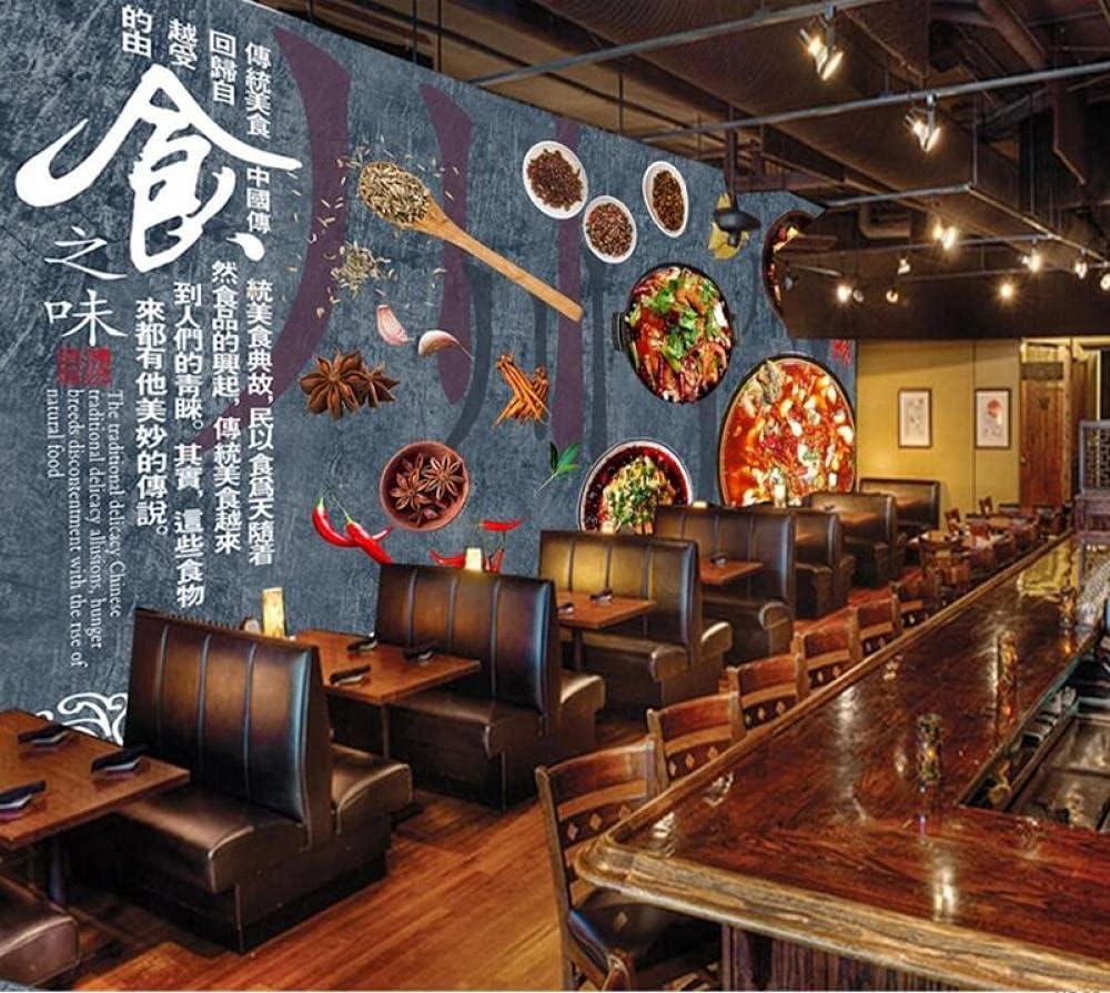 Max 70% OFF Custom Wallpaper 3D Retro Features R Sichuan Cuisine Fish Boiled Overseas parallel import regular item