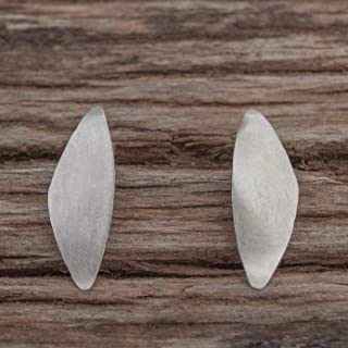 Pendientes plata geométricos, pendientes triángulos para mujer.