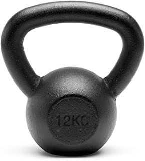 Meteor Basics Solid Cast Iron Kettlebell - Great for Full Body Workout and Strength Training Weightlifting