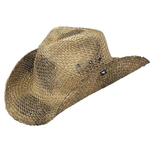 1212a1e7534d6c Peter Grimm Natural Straw Maverick Drifter Cowboy Hat