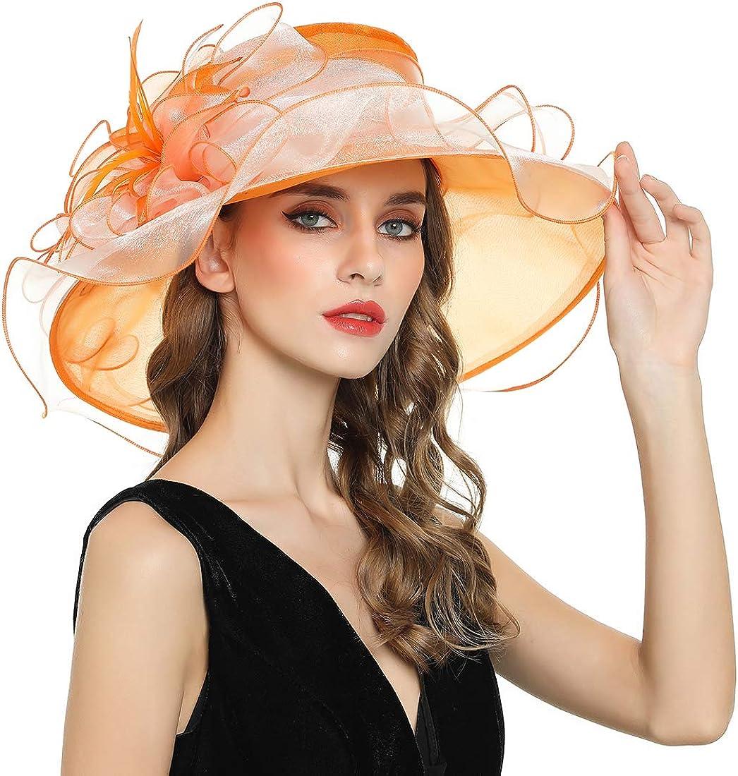 Women's Max 79% OFF Fascinator Church Kentucky Organza Sale price Brial Derby hat